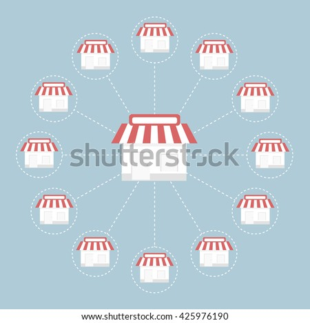 stock vector franchise icon vector 425976190 How To Franchise A Business The Art Of Global Expansion