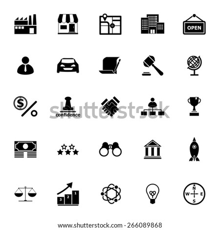 Franchise icons on white background, stock vector - stock vector