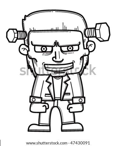 Frankenstein Monster Cartoon Stock Photo Vector