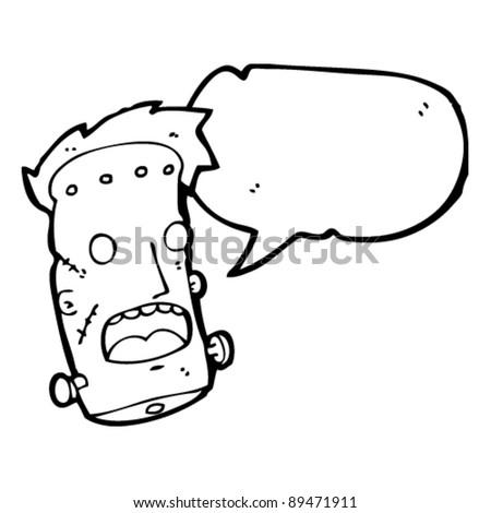 frankenstein's monster talking cartoon - stock vector