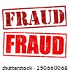 Fraud grunge rubber stamps over a white background, vector illustration - stock photo