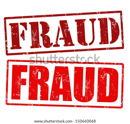 Fraud grunge rubber stamps over a white background, vector illustration - stock vector