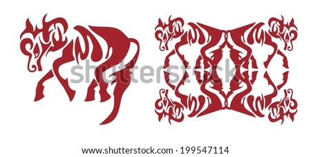 Freakish red horse element