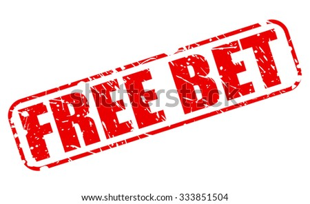 FREE BET red stamp text on white - stock vector