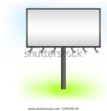 Free billboard Vector illustration Realistic free billboard standing on white and green background