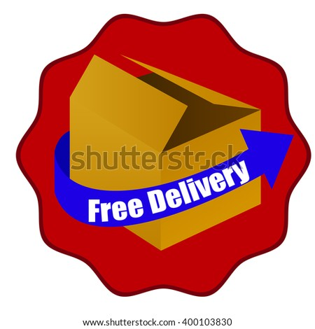 free delivery box package vector with arrow