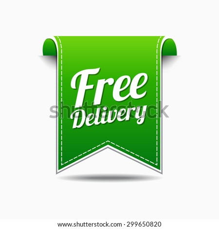 Free Delivery Green Vector Icon Design