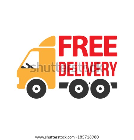 Free Delivery Icon. Flat Style. Vector - stock vector