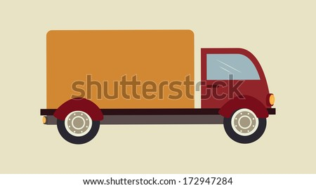 free delivery over beige  background vector illustration  - stock vector