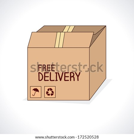 free delivery over gray  background vector illustration