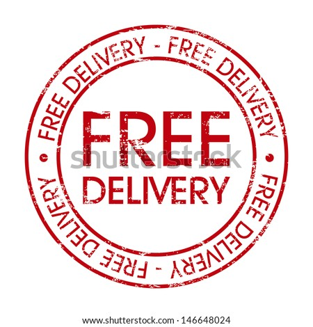 free delivery over white background vector illustration  - stock vector