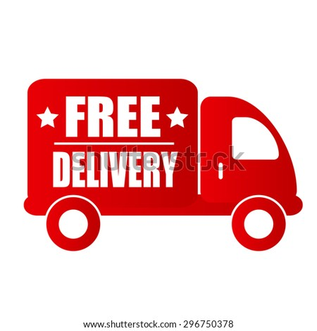 free delivery text in red car