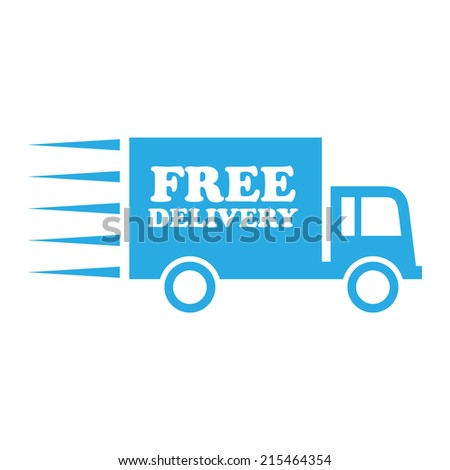 free delivery truck blue - stock vector