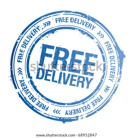 Free delivery vector stamp. - stock vector