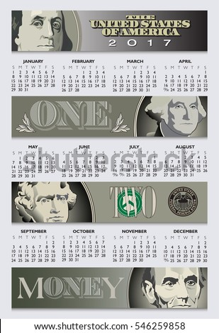 Free enterprise is the theme of this 2017 calendar with 4 money banners