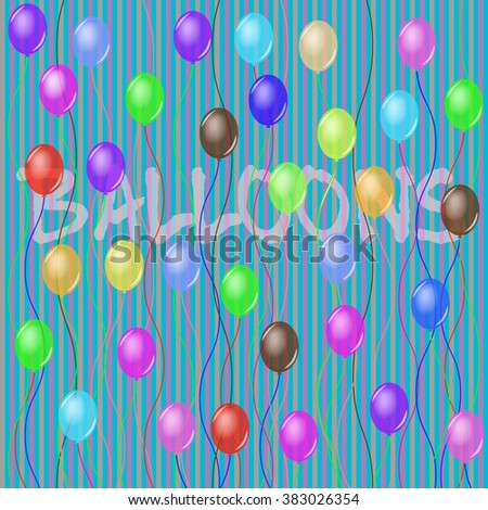 Free flying balloons. Pattern. seamless