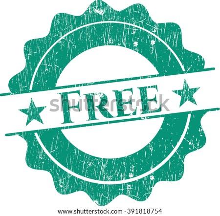 Free grunge seal - stock vector