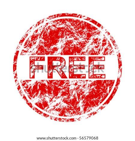 free label - stock vector