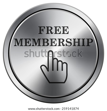 Free membership icon. Internet button on white background. EPS10 Vector.