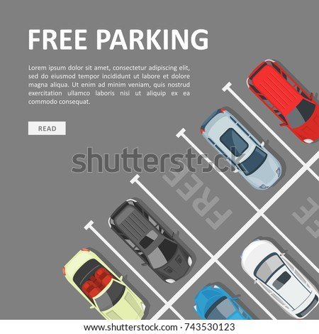 parking lot template free Free Parking Template Place Vehicle Parking Stock Vector 743530123 ...