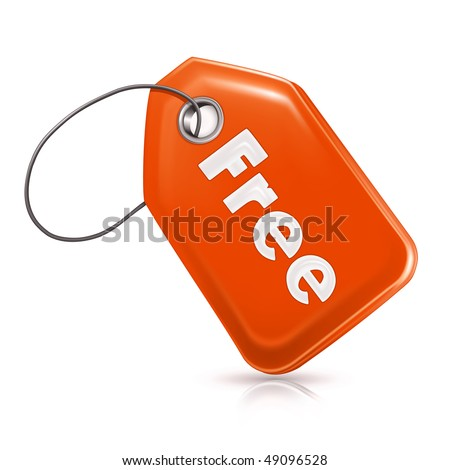 Free Price Tag, mesh - stock vector