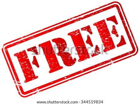 Free Rubber Stamp - stock vector