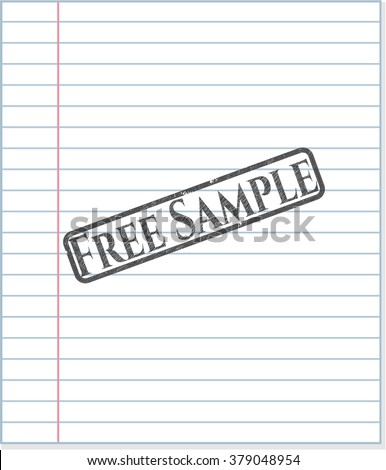 Free Sample penciled - stock vector