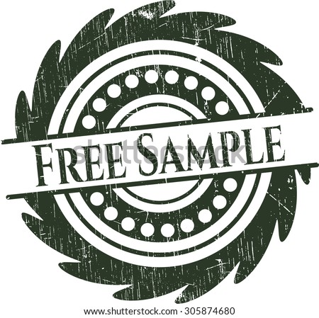Free Sample rubber grunge stamp - stock vector