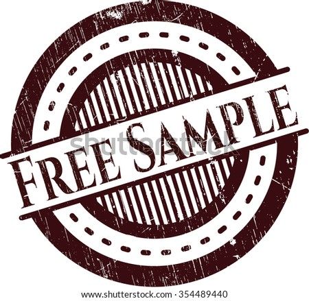 Free Sample rubber seal - stock vector