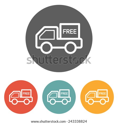 free shipping icon - stock vector