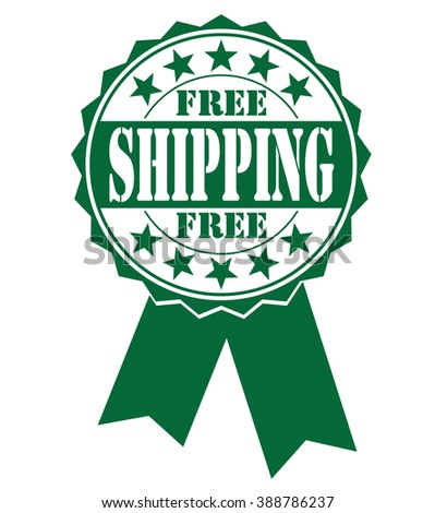 free shipping icon on a white, vector illustration