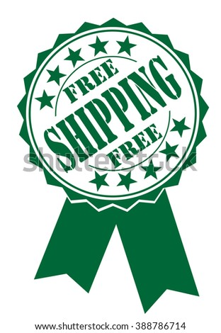 free shipping icon on white, vector illustration