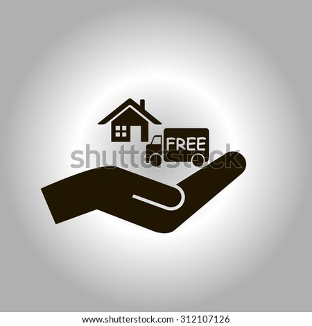 Free Shipping Icon Vector Symbol Car Stock Vector 312107126