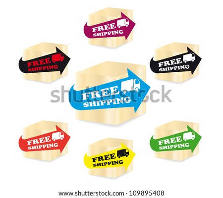 Free shipping icons - stock vector