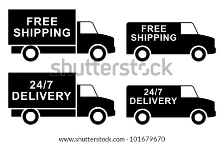 Free shipping labels - stock vector