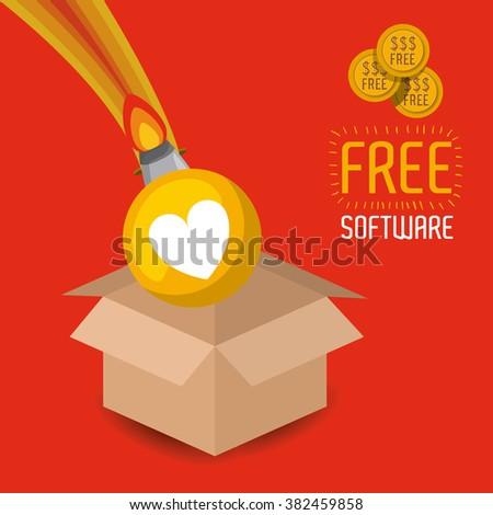 free software design  - stock vector