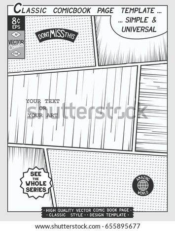 Comic Book Layout Stock Images, Royalty-Free Images & Vectors ...