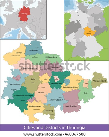Free State of Thuringia - stock vector