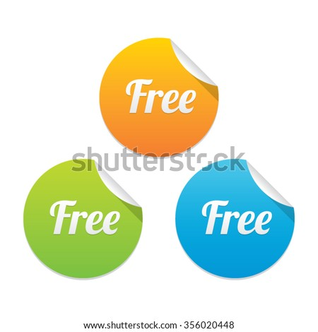 Free Sticker Label - stock vector