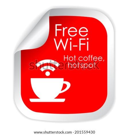 Free wi-fi symbol - stock vector