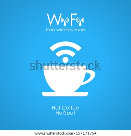 Free wifi cybercafe poster - stock vector