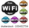 Free Wifi Symbols - stock photo