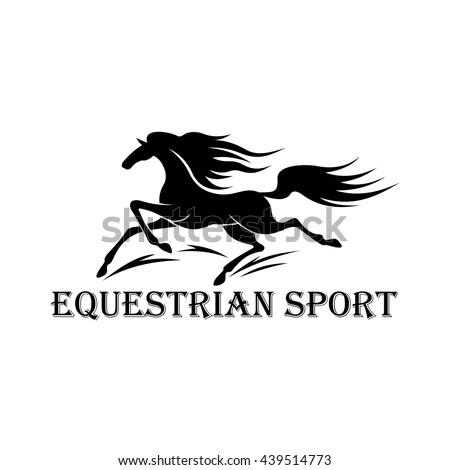 Free Wild Mustang Stallion Symbol Horse Stock Vector 439514773