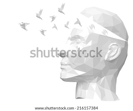 Free your mind - stock vector