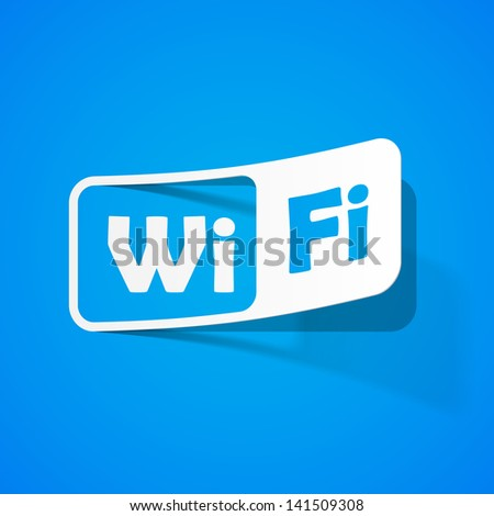 Free Zone wi-fi, sticker - stock vector