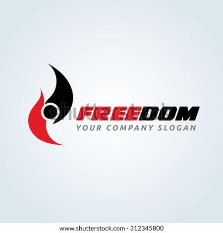 freedom people speed auto sports logo stock vector 312345800