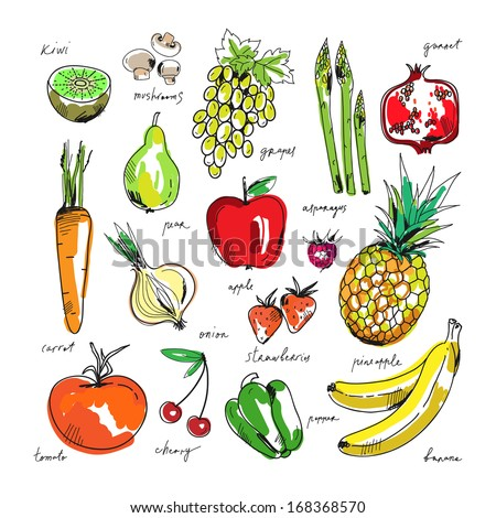 Stock Images similar to ID 131204813 - set of fruits and ...
