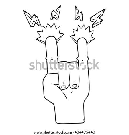 Female Hand Middle Finger Vector Illustration Stock Vector ...