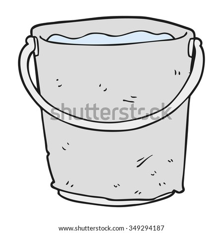 freehand drawn cartoon bucket of water