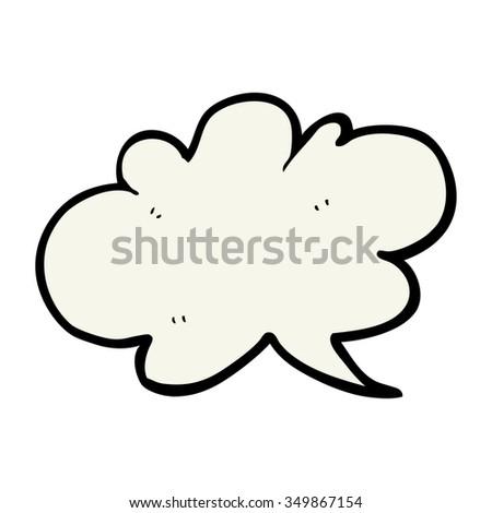 freehand drawn cartoon cloud speech bubble - stock vector
